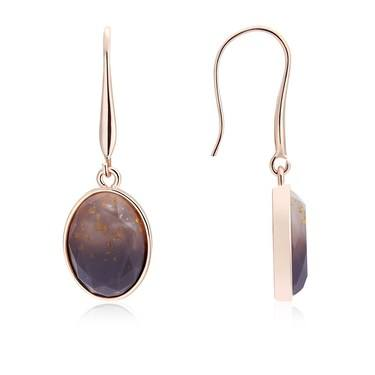 August Woods Rose Gold Divine Drop Earrings   - Click to view larger image
