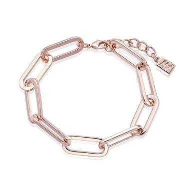 August Woods Rose Gold Rectangle Link Bracelet   - Click to view larger image