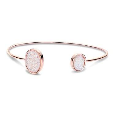 August Woods Rose Gold White Minerals Druzy Bangle   - Click to view larger image