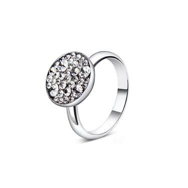 August Woods Silver Minerals Druzy Adjustable Ring   - Click to view larger image