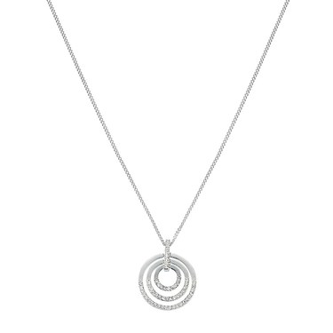 August Woods Silver Crystal Circle Necklace  - Click to view larger image
