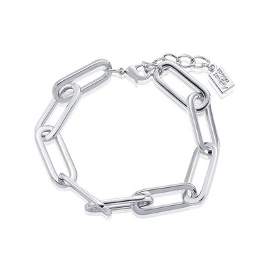 August Woods Silver Rectangle Link Bracelet   - Click to view larger image