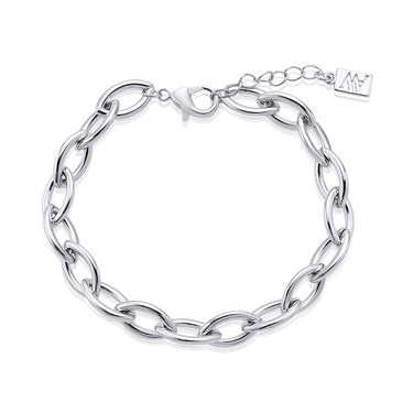 August Woods Silver Fine Link Bracelet   - Click to view larger image