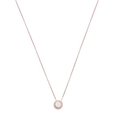 Argento Rose Gold + Opal Halo Necklace   - Click to view larger image