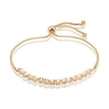 August Woods Gold Crystal Pull Bracelet   - Click to view larger image