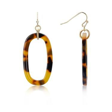 Dirty Ruby Gold Tortoiseshell Earrings   - Click to view larger image