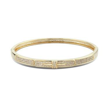August Woods Gold Twist Crystal Bangle   - Click to view larger image