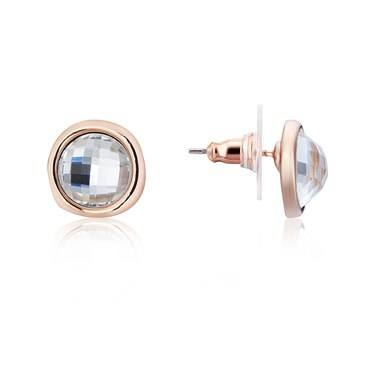 August Woods Rose Gold Party Crystal Earrings   - Click to view larger image