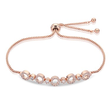 August Woods Rose Gold Circle Pull Bracelet   - Click to view larger image
