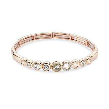 August Woods Rose Gold Crystal Circle Bracelet  - Click to view larger image