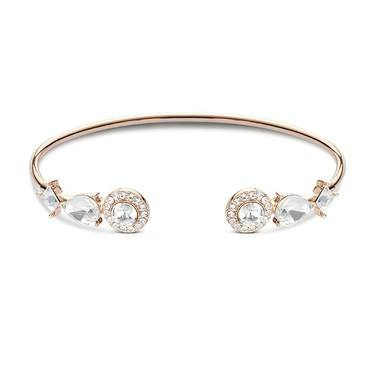 August Woods Rose Gold Crystal Halo Bangle   - Click to view larger image