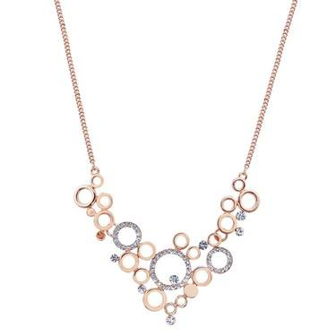August Woods Rose Gold Mini Circle Necklace   - Click to view larger image