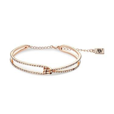 August Woods Rose Gold Open Crystal Twist Bracelet  - Click to view larger image