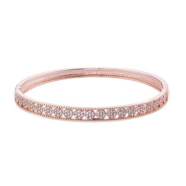 August Woods Rose Gold Crystal Inset Bangle   - Click to view larger image