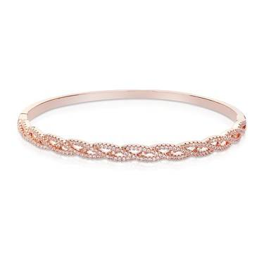 August Woods Rose Gold Braided Crystal Bangle   - Click to view larger image