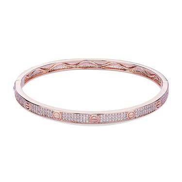 August Woods Rose Gold Crystal Bolt Bangle   - Click to view larger image