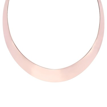 Dirty Ruby Rose Gold Collar Choker   - Click to view larger image