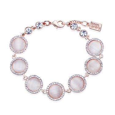 August Woods Rose Gold Rose Opal Bracelet  - Click to view larger image