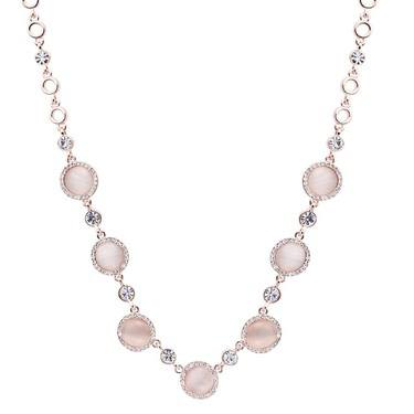 August Woods Rose Gold Rose Opal Drop Necklace  - Click to view larger image