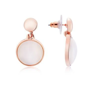 August Woods Rose Gold Rose Opal Drop Earrings   - Click to view larger image
