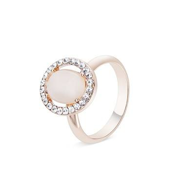 August Woods Rose Gold Rose Opal Adjustable Ring   - Click to view larger image