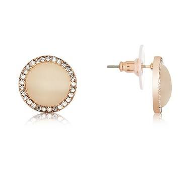 August Woods Rose Gold Rose Opal Stud Earrings   - Click to view larger image