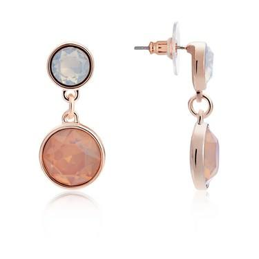 August Woods Rose Gold Rose Opal Earrings   - Click to view larger image