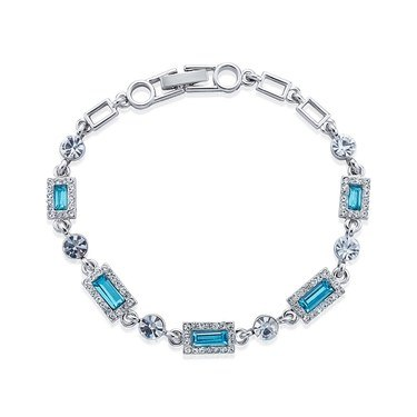 August Woods Arctic Aqua Crystal Bracelet  - Click to view larger image