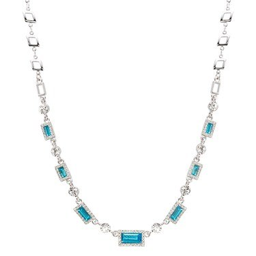 August Woods Arctic Aqua Crystal Necklace  - Click to view larger image
