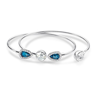 August Woods Arctic Aqua Crystal Bangle Set   - Click to view larger image