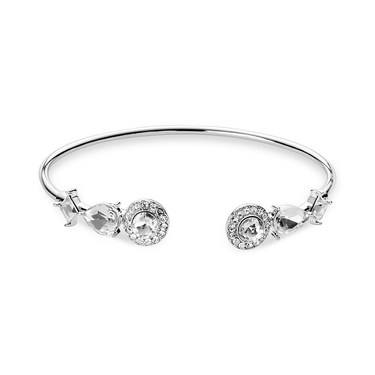 August Woods Silver Crystal Halo Bangle   - Click to view larger image