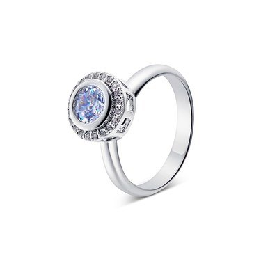 August Woods Silver Crystal Adjustable Ring   - Click to view larger image