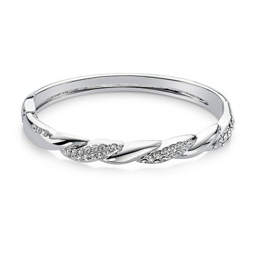 August Woods Silver Sparkle Twist Bracelet  - Click to view larger image