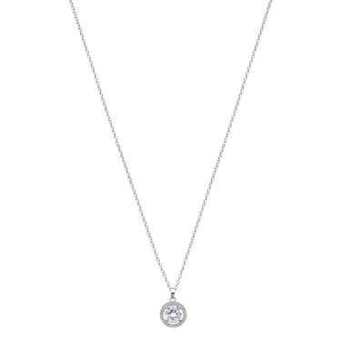 August Woods Silver Crystal Halo Necklace  - Click to view larger image
