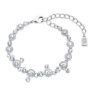 August Woods Silver Statement Crystal Drop Bracelet   - Click to view larger image