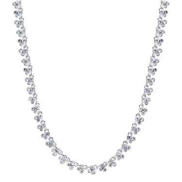 August Woods Silver Thin Crystal Necklace   - Click to view larger image