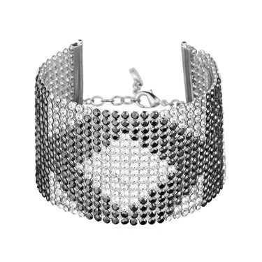 Karl Lagerfeld Silver Crystal Mesh Karl Bracelet   - Click to view larger image
