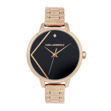 Karl Lagerfeld Klassic Karl Rose Gold Bracelet Watch   - Click to view larger image