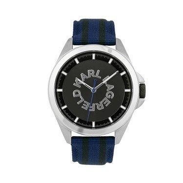 Karl Lagerfeld Karl Watch SS GUN Logo Striped  - Click to view larger image