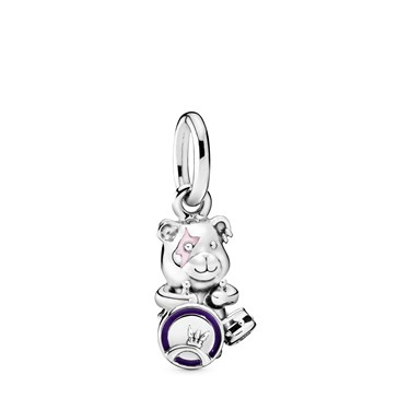 Pandora Theodore Bear Punk Band Charm  - Click to view larger image
