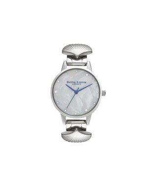 Olivia Burton Mermaid Silver & Blue Watch   - Click to view larger image