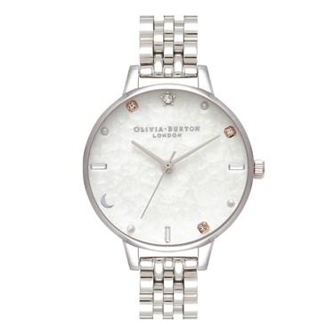 Olivia Burton Celestial Silver Bracelet Watch   - Click to view larger image
