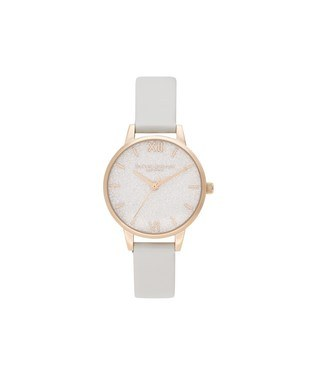 Olivia Burton Blush & Pale Gold Glitter Vegan Watch   - Click to view larger image