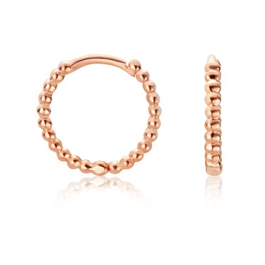 Argento Rose Gold Bubble Huggie Earrings  - Click to view larger image