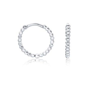 Argento Silver Bubble Huggie Earrings  - Click to view larger image