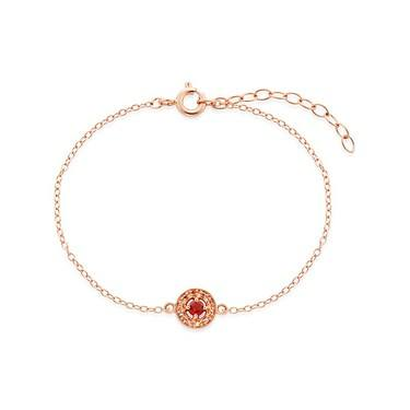 Argento Rose Gold January Halo Bracelet   - Click to view larger image