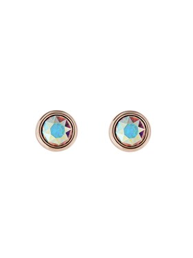 Ted Baker Rose Gold Iridescent Crystal Earrings  - Click to view larger image