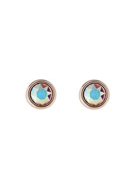 Ted Baker Rose Gold Iridescent Crystal Earrings