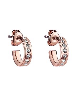 Ted Baker Rose Gold Crystal Huggie Hoop Earrings