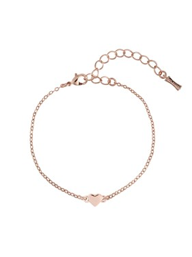 Ted Baker Rose Gold Tiny Heart Bracelet   - Click to view larger image